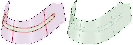 Stitching adjacent faces